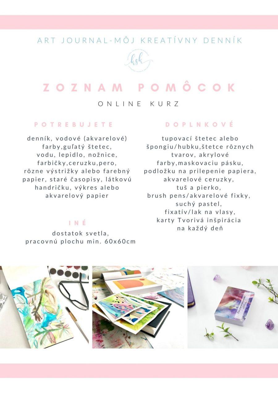 Zoznam pomôcok ART Journal